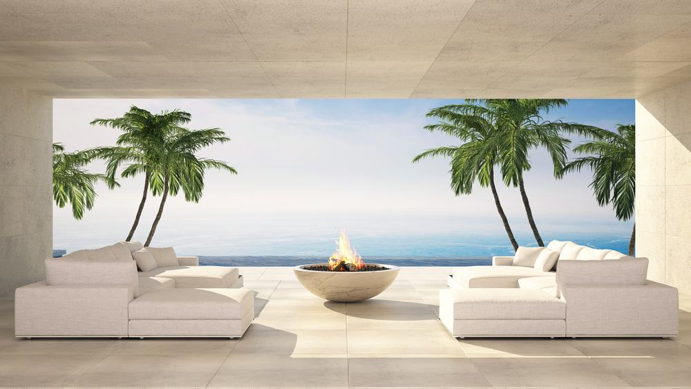 fire pit outdoor lounge luxury
