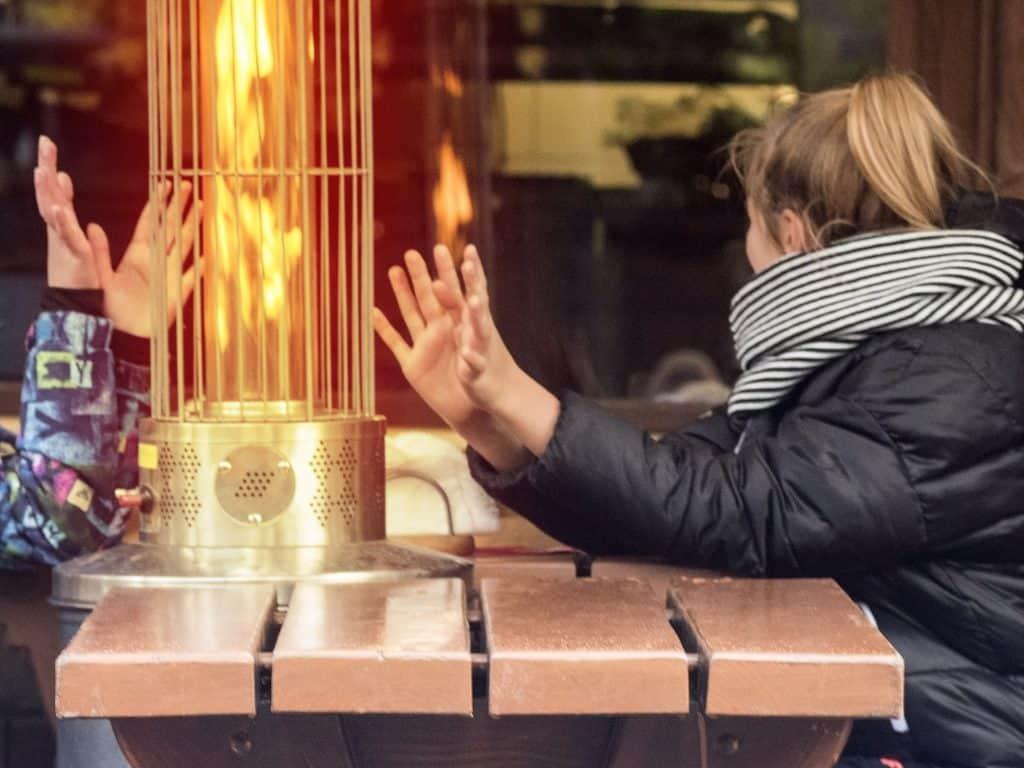gas heater outdoor warmth