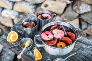mulled wine winter patio
