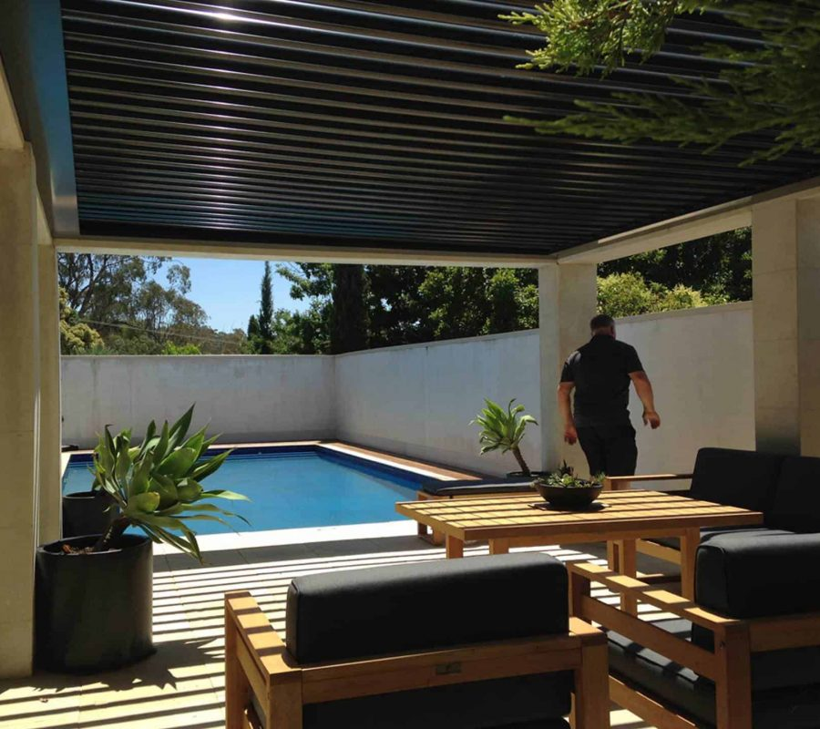 Poolside Perfection - Ultimate Alfresco build of Patios, Decks / decking, Pergolas . Alfresco ideas for outdoor living spaces (incl. retractable roofs) servicing in Albury Wodonga, Wagga, Shepparton and surrounding areas in northern VIC